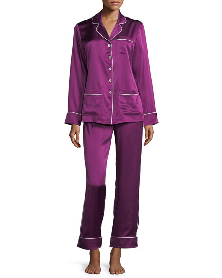 Coco Mulberry Long Silk Pajama Set