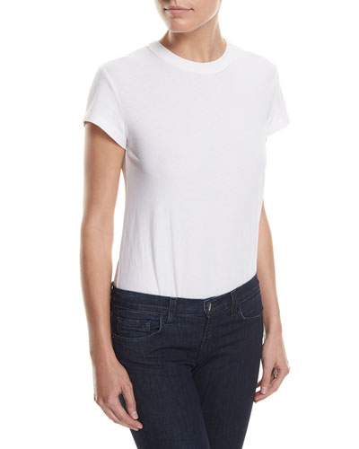 High-Twist Short-Sleeve Cotton Bodysuit
