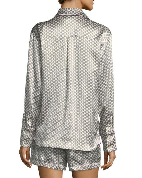 Alba Six Short Silk Pajama Set