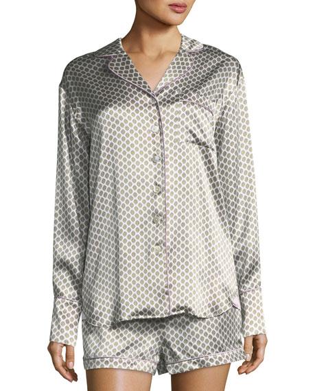 Olivia Von Halle Alba Six Short Silk Pajama