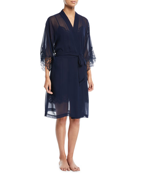 Lise Charmel Soir de Venise Long-Sleeve Short Robe