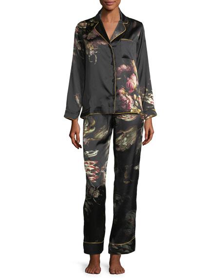 Morpho + Luna Ines Floral-Print Silk Pajama Set