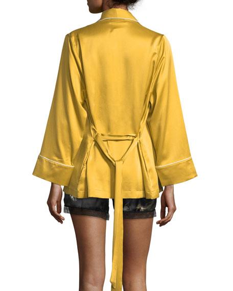Amelie Silk Short Robe