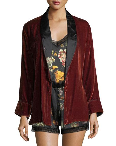 Amelie Velvet Short Robe