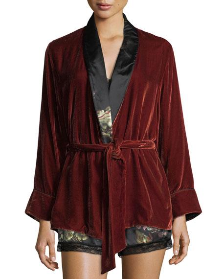 Morpho + Luna Amelie Velvet Short Robe