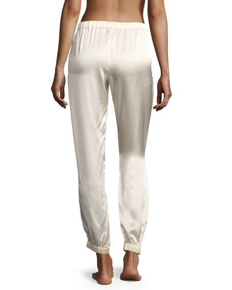 Camille Stardust Silk Lounge Pants