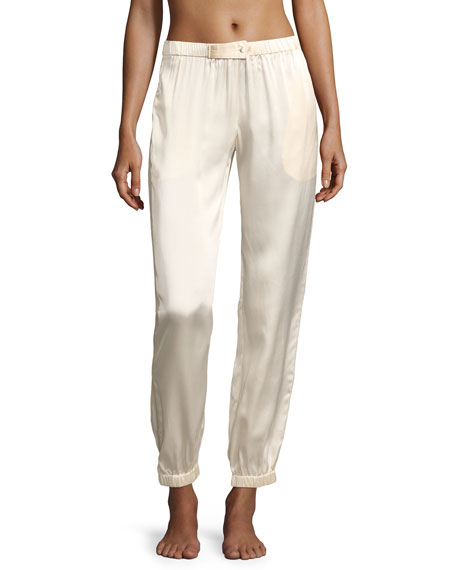 Morgan Lane Camille Stardust Silk Lounge Pants