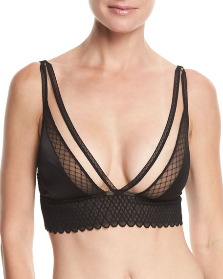 Else Lattice Plunge Wireless Soft Bra and Matching