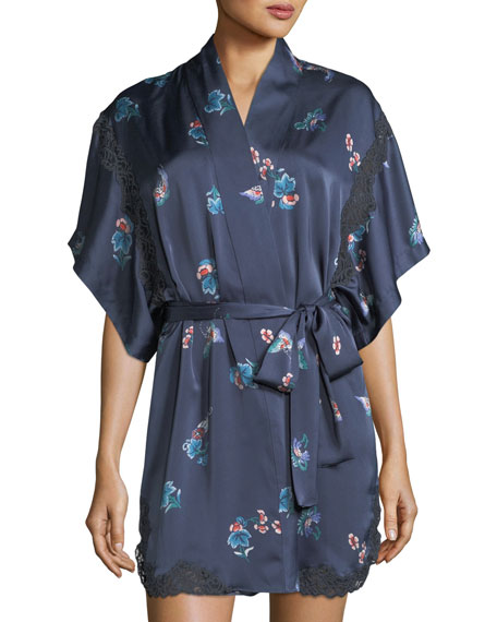 Natori Papillon-Print Satin Chemise and Matching Items