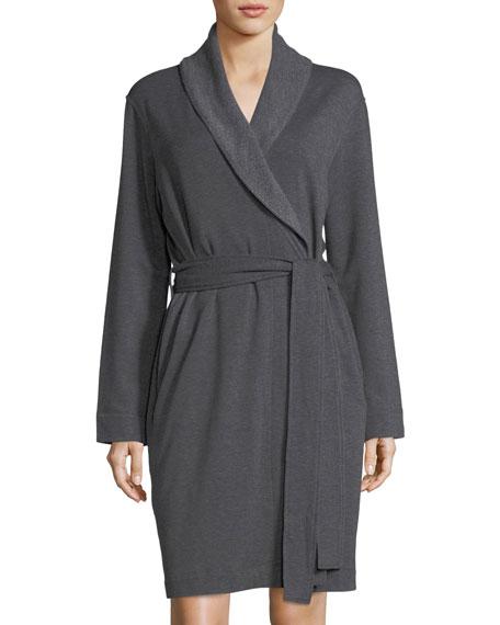 Natori Brushed-Knit Short Robe