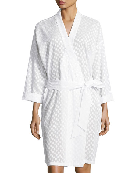 Linda Dot-Print Kimono Robe