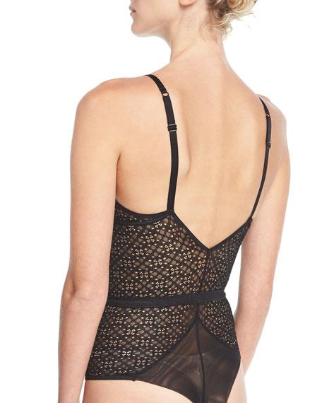 1930 Geometric-Lace Bodysuit