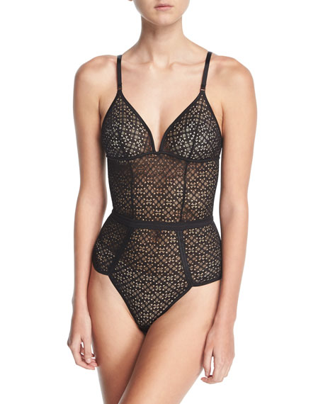 1930 Geometric-Lace Bodysuit