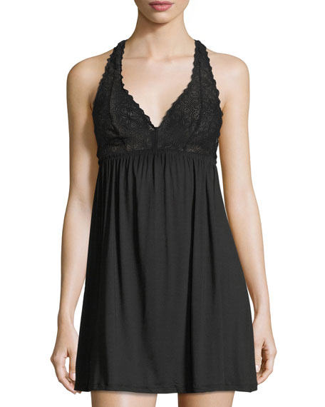 Cosabella Sweet Dreams Lace-Trim Chemise