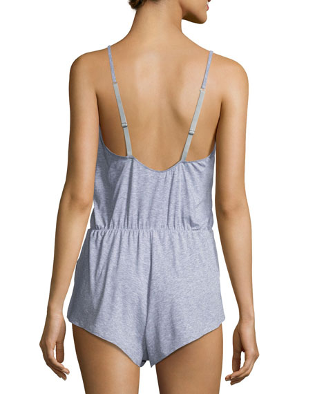 Palazzo Lace-Inset Lounge Romper