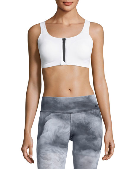 Nike Zip-Front Medium Support Performance Sports Bra