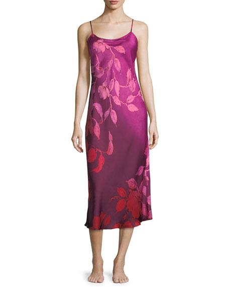 Sophia Long Satin Nightgown