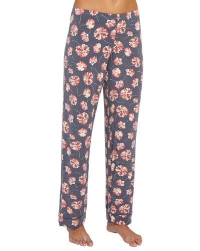 Veranda Floral-Print Pajama Pants
