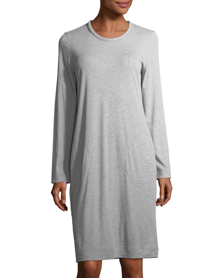 Hanro Enie Long-Sleeve Jersey Nightgown