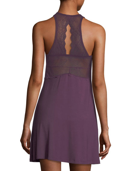 City Lights Lace-Trim Chemise