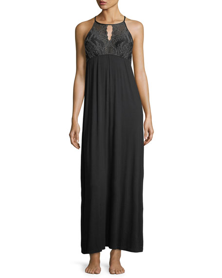 Fleur't Winter Escape Halter-Neck Nightgown