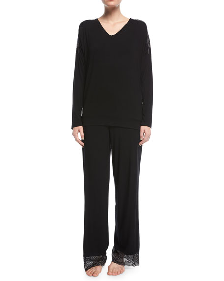 Winter Escape Lace-Trim Lounge Pants
