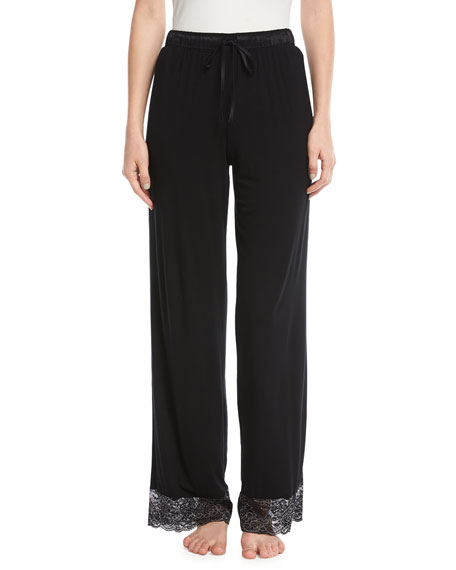 Winter Escape Lace-Trim Lounge Pants