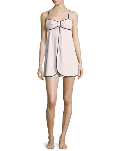 sheer bow crepe chemise