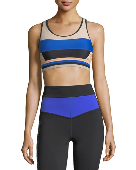 PE Nation The Tournament Racerback Paneled Crop Top