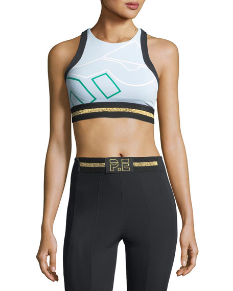 PE Nation The Volley Graphic Performance Crop Top