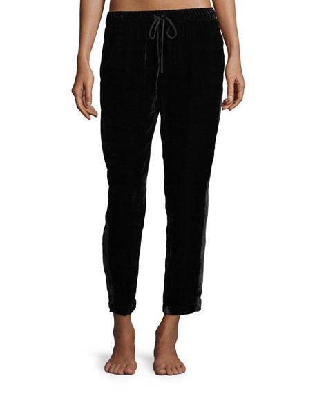 Josie Natori Luxe Velvet Slim Lounge Pants