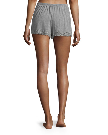 Feathers Lace-Trim Lounge Shorts