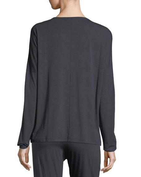 Sensual Opulence Lace-Sleeve Lounge Top