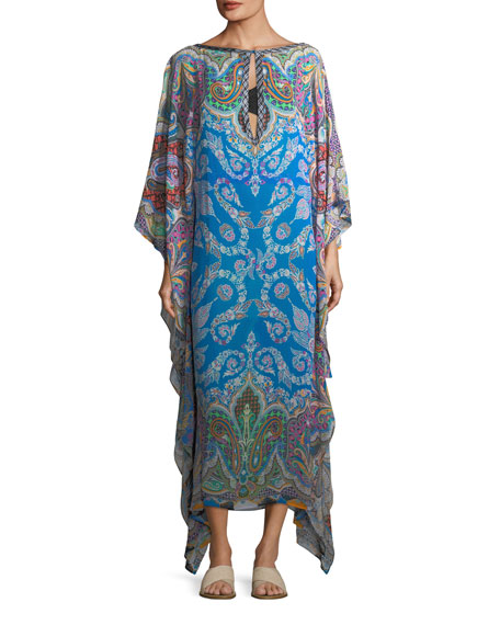 Etro Multi-Printed Long Coverup Caftan