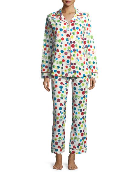 Bedhead Christmas Ornaments Long-Sleeve Pajama Set