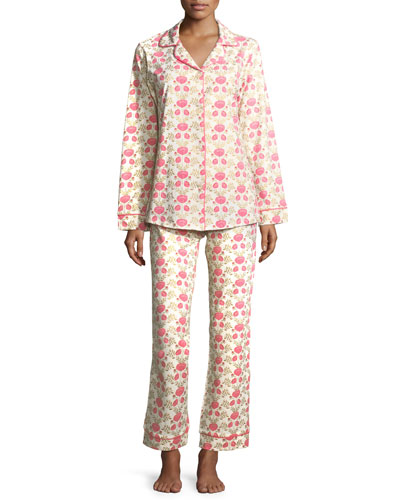 Gold Florence Long Pajama Set