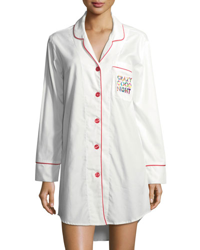 Crazy Good Night Long-Sleeve Sleepshirt