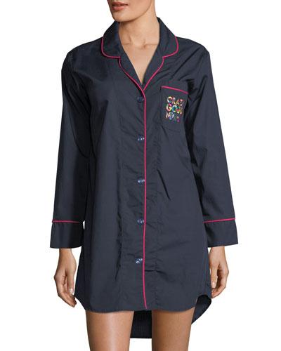 Crazy Good Night Long-Sleeve Sleepshirt