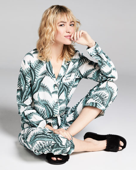 Fern Long-Sleeve Long Pajama Set