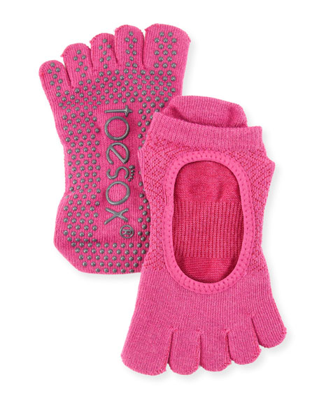 ToeSox Bellarina Ruby Grip Full Toe Athletic Socks