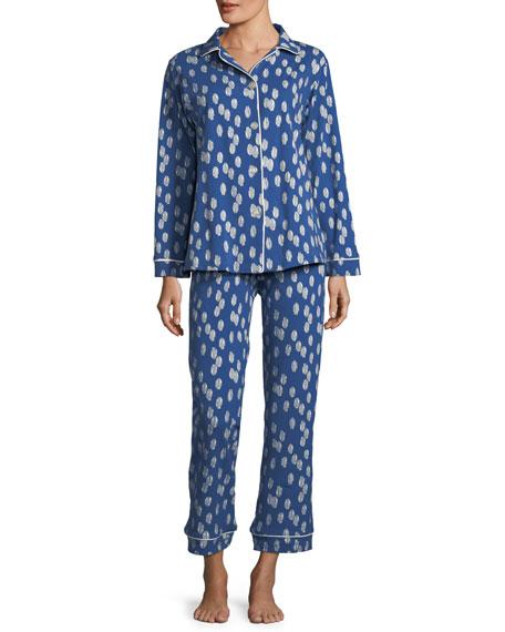 Bedhead Ikat Dot Long-Sleeve Classic Pajama Set, Plus
