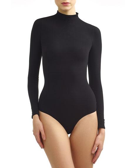 Commando Mock-Neck Long-Sleeve Ballet Bodysuit, One Size