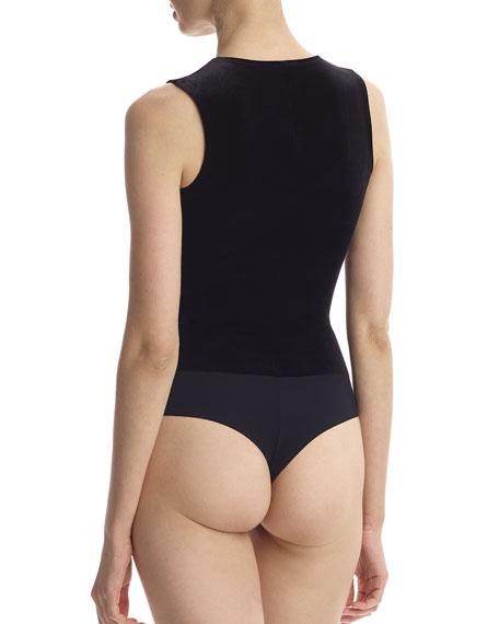Sleeveless Velvet Bodysuit