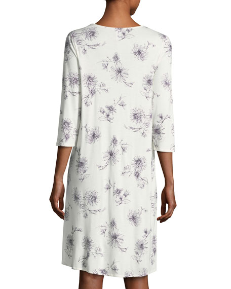 Camille 3/4-Sleeve Nightgown