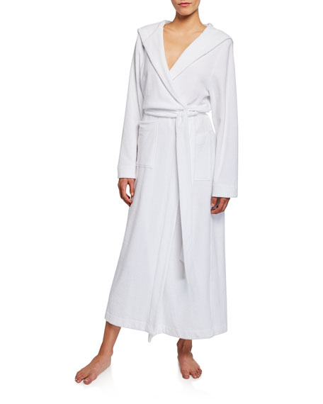 Hanro Hooded Plush Long Robe