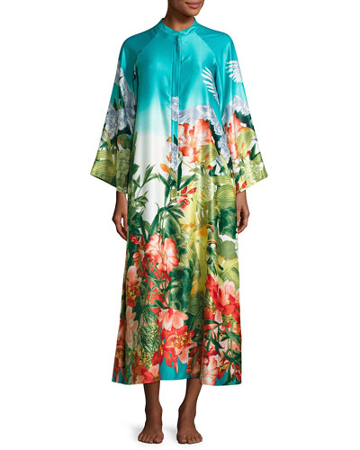 Birds of Paradise Zip-Front Caftan