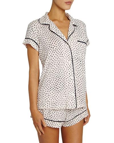Sketchy Spots Shortie Pajama Set