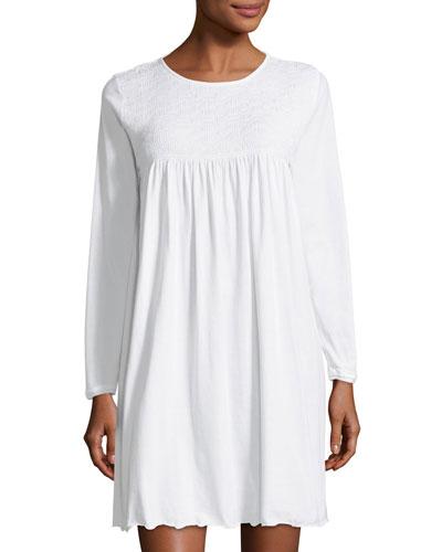 Pamela Long-Sleeve Short Nightgown