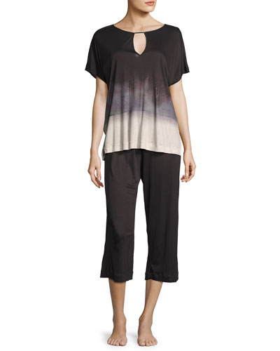 Amelie Culotte Pajama Set, Multi Pattern