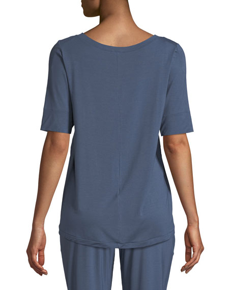 Yoga Half-Sleeve Jersey Lounge Top